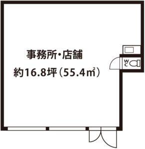 ハイツ中島1Fテナント図面